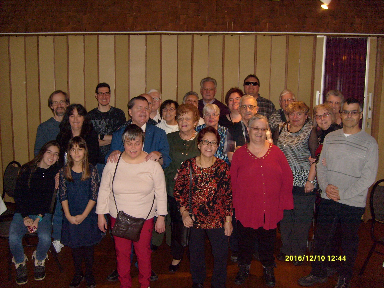 Groupe qui a participé au dîner de Noël qui a eu lieu le 10 décembre 2017 au Chalet du ruisseau situé à Mirabel.