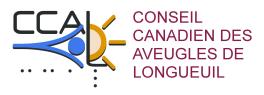 Logo du Conseil canadien des aveugles de Longueuil.