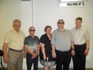 Membres du conseil d'administration pour l'année 2015-2016. André Chaput, Antonin Plante, Josée Blanchette, Martin Morin et Alexandre Bellemare.