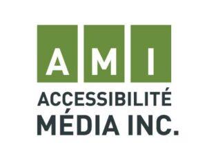 Logo. AMI accessibilité média Inc.