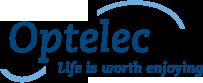 Logo. Optelec. Life is worth enjoying.