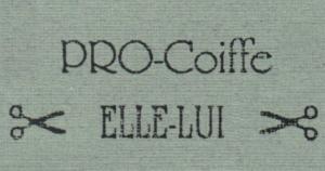 Logo. Pro-Coiffe. Elle et Lui.